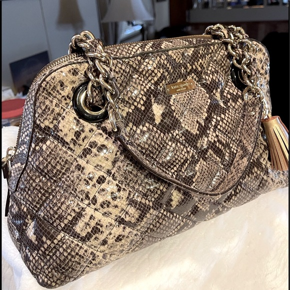 Kate Spade Snake Quilted Satchel